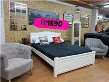 מיטה זוגית קלאסית מעץ - אלוף המזרונים