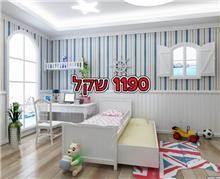 מיטת ילדים נפתחת עם מגירות במבצע - אלוף המזרונים