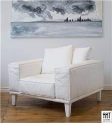 כורסא לבנה אלגנטית