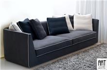 ספה מעוצבת מבד