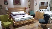 חדר שינה דגם אלון ניקל - רהיטי המושבה