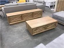 סט מזנון ושולחן אורגניק - רהיטי המושבה