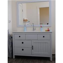 ארון אמבטיה אפור