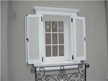 חלון לבן עץ מלא