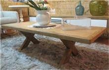 שולחן עץ אלון מבוקע