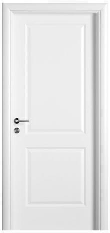 דלת אלגנטית לבנה