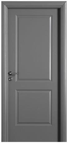 דלת אפורה אלגנטית