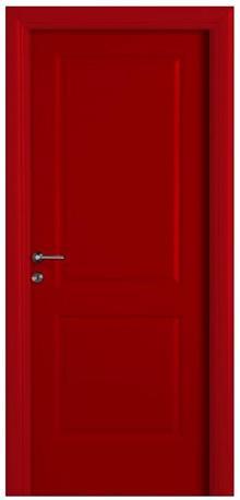 דלת אדומה מרשימה