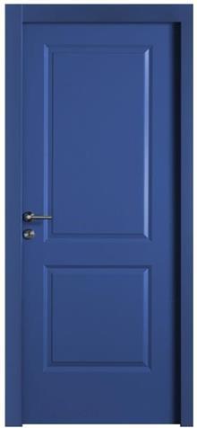 דלת כחולה מעוצבת