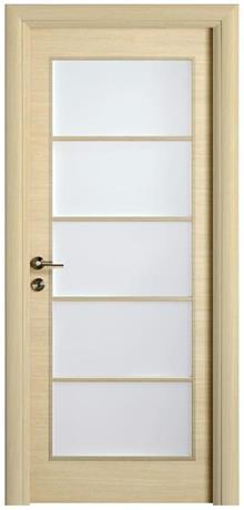 דלת יפנית בגוון אלון