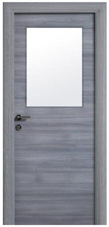 דלת אפורה עם צוהר