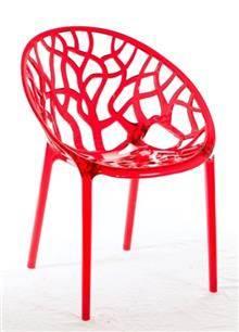 כסא פלסטיק אדום