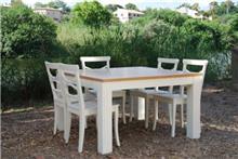 שולחן לבן מרובע
