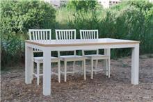 שולחן לבן לפינת האוכל