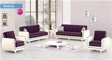 סלון בסגול ולבן - אלבור רהיטים