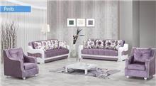 מערכת ישיבה בסגול בהיר - אלבור רהיטים