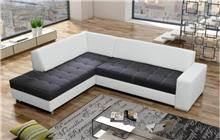ספה שחור לבן - אלבור רהיטים