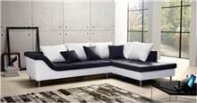 ספה פינתית שחור לבן - אלבור רהיטים
