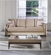 ספה חומה בהירה - אלבור רהיטים