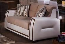 ספה לבנה וחומה - אלבור רהיטים