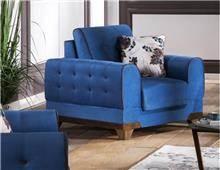 כורסא כחולה יוקרתית - אלבור רהיטים