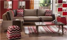 ספה פינתית בגווני חום - אלבור רהיטים