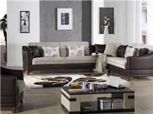 ספה פינתית חום אפור - אלבור רהיטים
