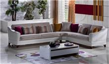 ספה פינתית לבן-שמנת - אלבור רהיטים