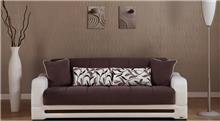 ספה נפתחת חום לבן - אלבור רהיטים
