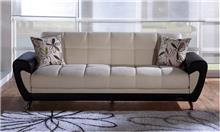 ספה נפתחת שחור שמנת - אלבור רהיטים