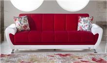 ספה אדום לבן - אלבור רהיטים