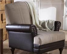 כורסא חום שמנת - אלבור רהיטים