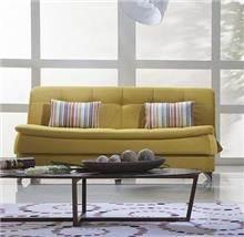 ספה צהובה תלת מושבית