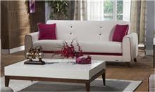 ספה תלת מושבית לבנה - אלבור רהיטים