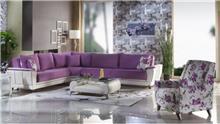 ספה פינתית בסגול - אלבור רהיטים