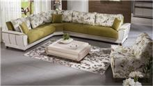 ספה פינתית בירוק ליים - אלבור רהיטים