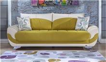 ספה צהוב לבן - אלבור רהיטים