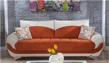 ספה כתום לבן - אלבור רהיטים