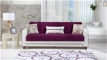 ספה לבן בורדו - אלבור רהיטים