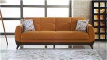 ספה כתומה תלת מושבית - אלבור רהיטים