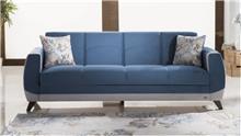 ספה כחולה תלת מושבית - אלבור רהיטים
