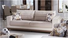 ספה דו מושבית בצבע שמנת - אלבור רהיטים