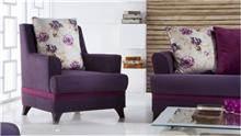 כורסא סגולה לסלון