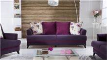 ספה סגולה 3 מושבים - אלבור רהיטים
