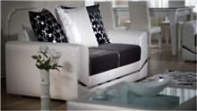 ספה זוגית שחור לבן