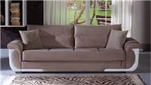 ספה חומה תלת מושבית - אלבור רהיטים