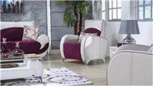 כורסה לבן בורדו - אלבור רהיטים