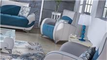 כורסא טורקיז לבן - אלבור רהיטים