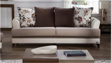 ספה תלת מושבית בגוון שמנת - אלבור רהיטים