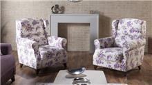 כורסה פרחונית - אלבור רהיטים